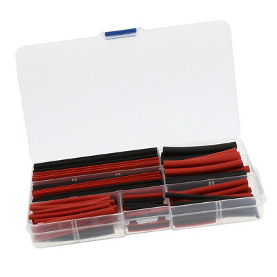 150 Pieces Heat Shrink Tube Wire Wrap Tubing Sleeve Assortment Black And Red