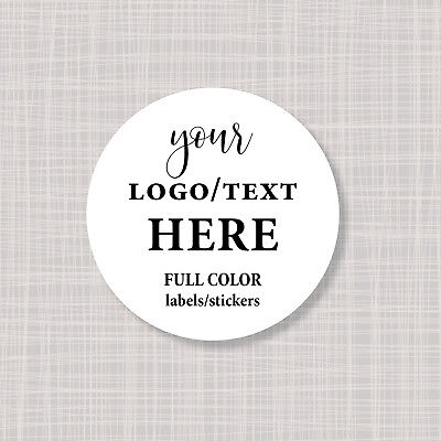 """Custom Personalized Full Color Round Circle Logo Labels Stickers 3"""""""