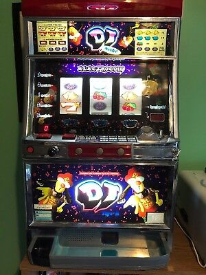 DJ Electrocoin slot machine casino fun at home mancave with tokens and keys