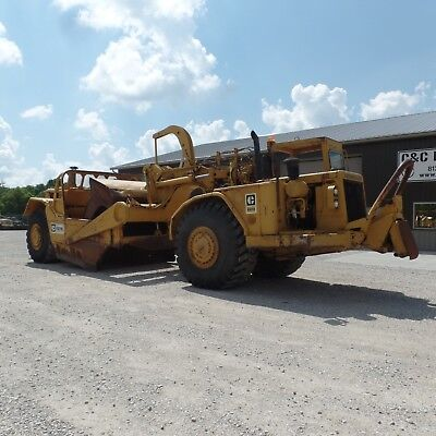 1980 Caterpillar 627B Scraper Nice shape 20 Yard Double Engine Cushion Neck