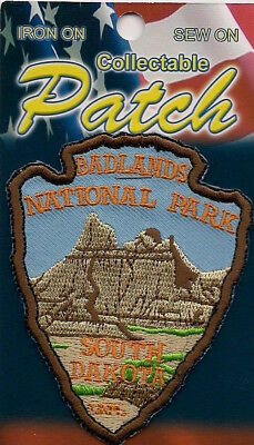 Badlands National Park  South Dakota Souvenir Arrowhead Patch