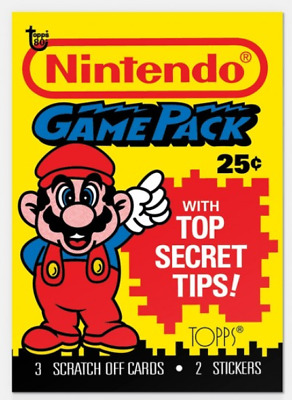 2018 Topps Wrapper Art Card #58 Nintendo Super Mario Bros. Game Pack PS
