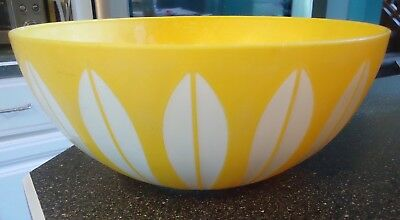 Vintage Deka  11 Inch Synthetic Yellow Bowl Cathrineholm Lotus Style Design #604