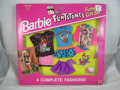 Vintage Mattel Barbie THE FLINTSTONES Funwear Gift Set - Sealed