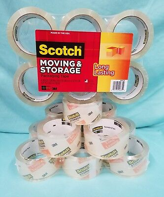 Pack Of 6 Scotch 3M Moving & Storage Clear Tape # 3650  6 Rls 1.88 In × 54.6 Yd