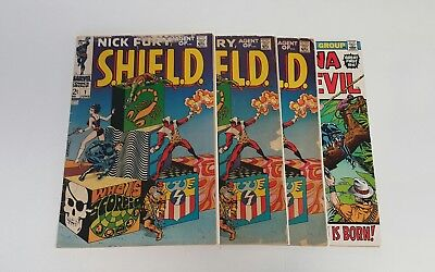 Nick Fury, Agent of SHIELD #1 (1968), 3 copies, Steranko bonus, 1st Prints
