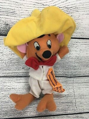 VTG 1970s Looney Tunes Speedy Gonzales Gonzalez Stuffed Animal Plush Doll 13""