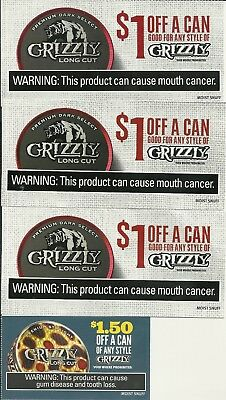 SMOKELESS TOBACCO COUPONS - Grizzly