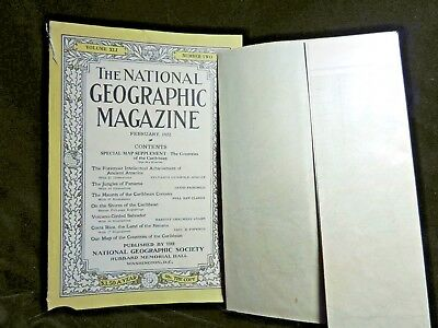 NATIONAL GEOGRAPHIC Feb 1922 COUNTRIES OF THE CARIBBEAN with MAP