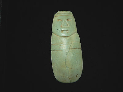 Pre-Columbian Large Anthropomorphic Axe God Celt, Central America, Authentic