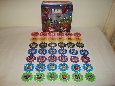 Woolworths Marvel Heroes Discs Complete Set With Collector Tin
