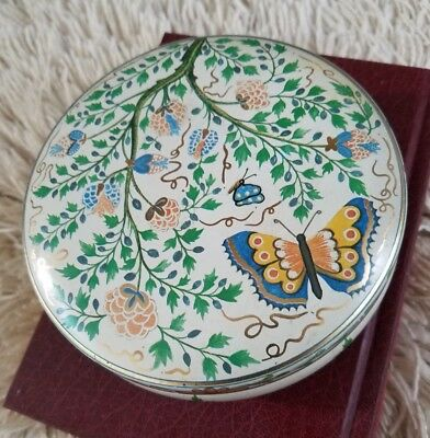 Vintage Cleo Wrap Butterfly and Floral Design Candy Tin  - Brazil