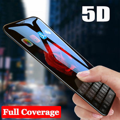 5D Curved Full Cover Tempered Glass Screen Protector Film For iPhone 6,7,8Plus,X