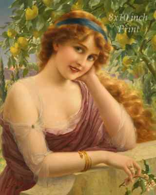 Little Girls Puppy Dog 8x10 Print 2561 Best of Friends by Emile Vernon