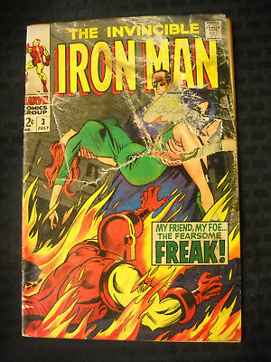 The Invincible Iron Man #3 Silver Age 12 Cent Comic