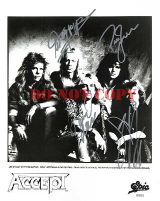 ACCEPT Band Signed 8x10 Autographed Promo Photo DAVID REECE Reprint