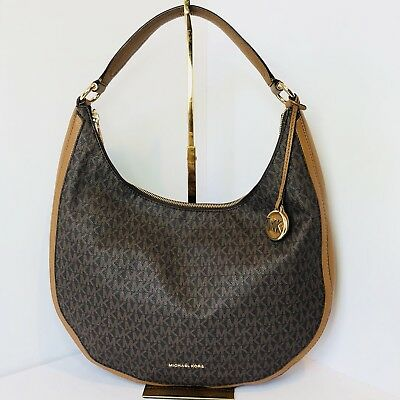 d5e9f846d2 MICHAEL KORS SIGNATURE Vanilla Shoulder Hobo Bag -  109.00