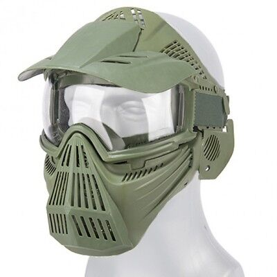 Airsoft Paintball Protective Tactical Safety Goggles Full Face Mask OD 2607G
