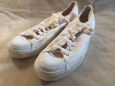 1970s PF Industries Canvas Sneakers 70s Vintage Vtg USA Made Size 11 RARE