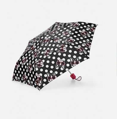 Justice Girls Pawsitivity Umbrella Black Red Boston Terrier New