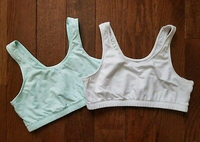 Girls Training Sports Bras Size Xl (14) 1 New 1 Eeuc