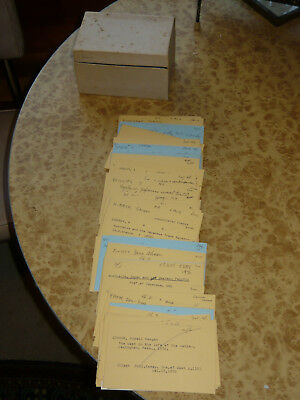 Box of 100+ Vintage Reference LIBRARY CATALOG CARDS Scrapbook Art MIXED MEDIA