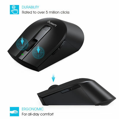 US 2.4G Wireless Optical Portable Mouse Long Range For PC Laptop Mac Android OS