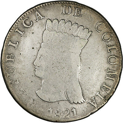 Colombia (Cundinamarca) 1821 8 Reales F+, SCARCE ISSUE