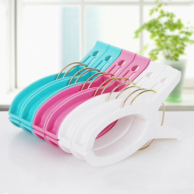 10Pcs Large Bright Colour Plastic Beach Towel Pegs Clips to Sunbed Tool Home USA