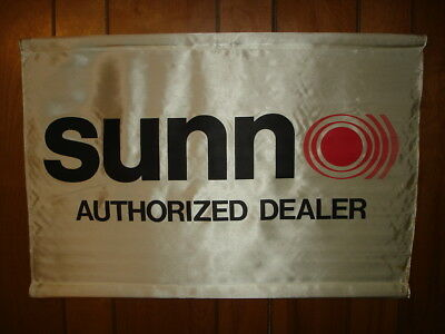 VINTAGE SUNN AUTHORIZED DEALER BANNER......Music Store Banner...Cloth...Rare