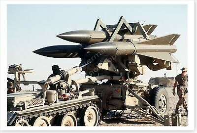 MIM-23B Hawk Surface-To-Air Missile System Desert Shield 8x12 Photo