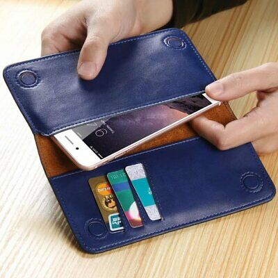 Real Genuine Cowhide Cow Leather Wallet ID Card Pocket Cover Magnetic Close Case