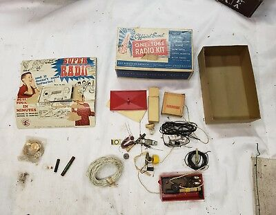 Vintage Official Scout One Tube Radio Kit Boy Scouts of America