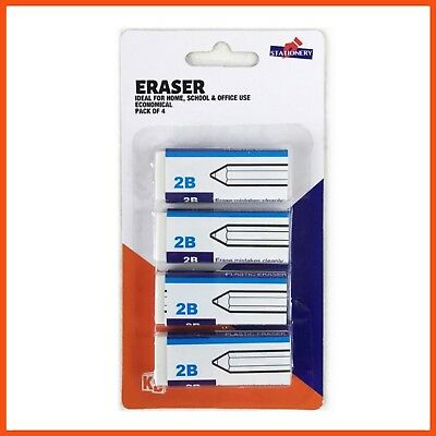 96 x WHITE VINYL ERASER | Soft Eraser Rubber Pencil Eraser Sketching Drawing Art