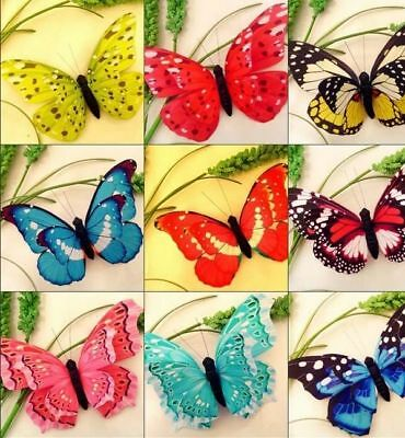 40x Home 3D Beautiful Lovely Butterfly Magnets Fridge Refrigerator Magnets Decor