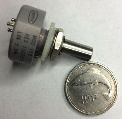 Spectrol #152 Precision Potentiometer 100 Ohm Continuous Rotation