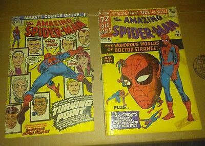 AMAZING SPIDERMAN #121 Death of Gwen- Restored + Amazing Spiderman king size 2