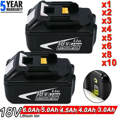 6.0AH 18V For Makita LXT400 BL1830 BL1840 BL1845 BL1815 Lithium Cordless Battery