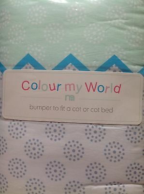 Mothercare Colour My World Cot Or Cot Bed Bumper ** Bnip **