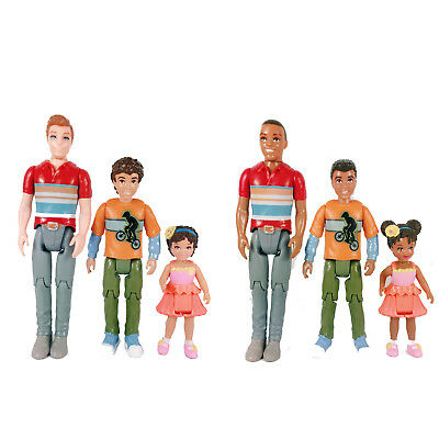 Fisher Price Loving Family African & White AmericanDad Brother Toddler Figures