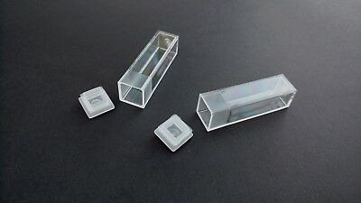 Plastic Cuvette Tubes Vials Containers With Push In Caps 4.5ml Volume x 10