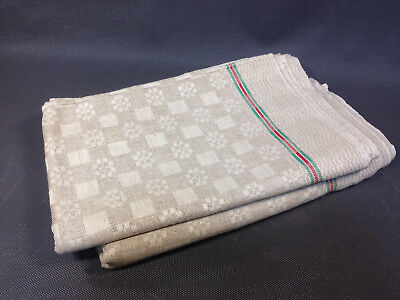 Lot 6 anciennes serviettes de table linge de Gerardmer Vosges vintage old towels
