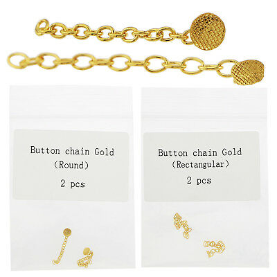 Dental Orthodontic Golden Gold Plated Traction Button Chain Round Rectangular