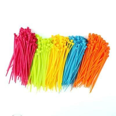 100pcs 102mmx2mm Mixed Color Plastic Cable Ties Strap Zip Tie Cable Wire Tidy #1