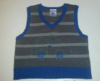 Cute Baby Boys Pumpkin Patch Knitted Vest Cardigan -  Size 6 - 12 months 0