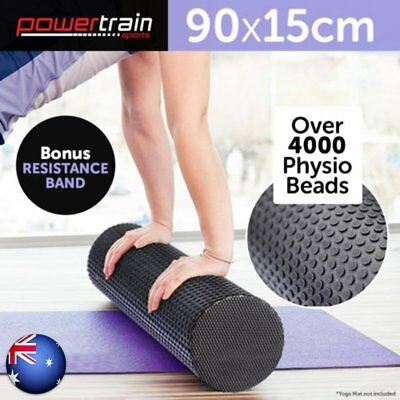 90x15cm EVA PHYSIO FOAM AB ROLLER YOGA PILATES EXERCISE BACK HOME GYM MASSAGE t#