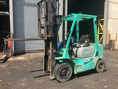 Mitsubishi Cascade Sideshift Forklift Approx 2 Ton Lift Diesel