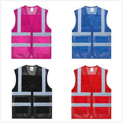 GOGO Unisex Mesh High Visibility Volunteer Safety Vest with Reflective Strips