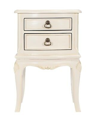 Bordeaux Antique White Mahogany French Style Bedside Table