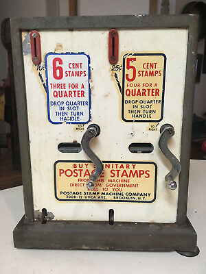 Vintage Postage Stamp Machine Co NY Vending Machine 6 cents/ 5 cents aprox. 1968